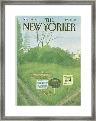 New Yorker May 5th, 1986 Framed Print