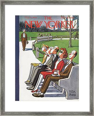 New Yorker May 6th, 1944 Framed Print by Peter Arno