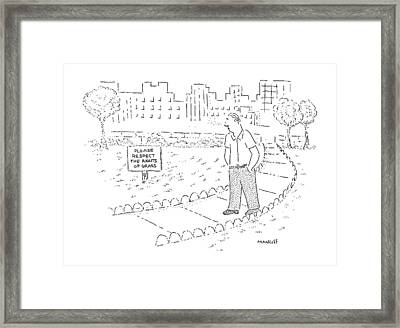New Yorker May 6th, 1991 Framed Print by Robert Mankoff