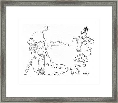 New Yorker May 8th, 1943 Framed Print by Saul Steinberg