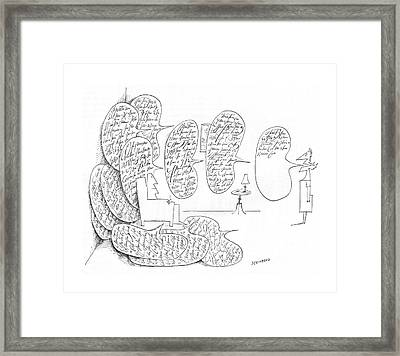 New Yorker May 8th, 1965 Framed Print by Saul Steinberg