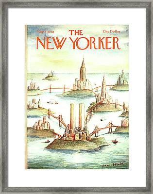 New Yorker May 8th, 1978 Framed Print by Paul Degen