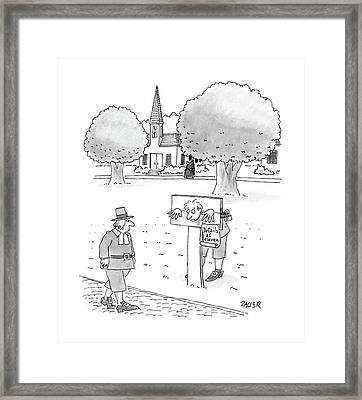 New Yorker May 9th, 1988 Framed Print by Jack Ziegler