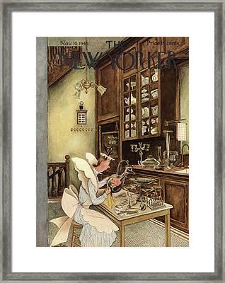 New Yorker November 10th, 1945 Framed Print by Mary Petty