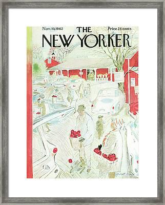 New Yorker November 10th, 1962 Framed Print by Garrett Price