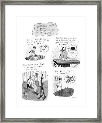 New Yorker November 10th, 1986 Framed Print by Roz Chast