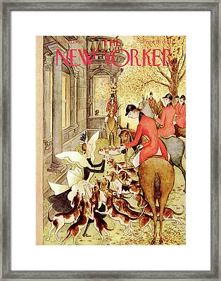 New Yorker November 11th, 1950 Framed Print by Mary Petty