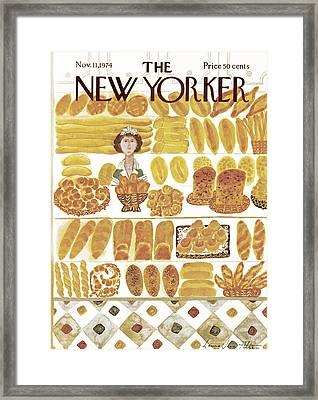 New Yorker November 11th, 1974 Framed Print by Laura Jean Allen