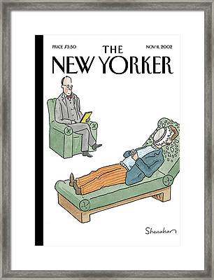 New Yorker November 11th, 2002 Framed Print by Danny Shanahan