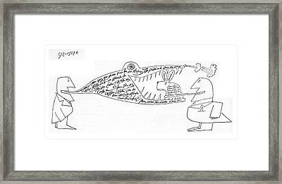 New Yorker November 12th, 1960 Framed Print by Saul Steinberg