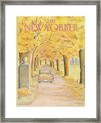 New Yorker November 12th, 1984 Framed Print