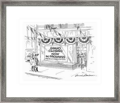 New Yorker November 12th, 1990 Framed Print by Bernard Schoenbaum