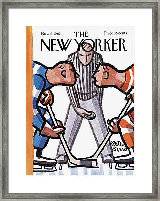 New Yorker November 13th, 1965 Framed Print by Peter Arno