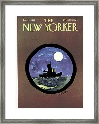 New Yorker November 13th, 1971 Framed Print by Donald Reilly