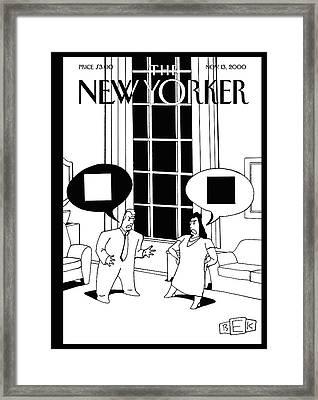 New Yorker November 13th, 2000 Framed Print by Bruce Eric Kaplan