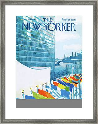 New Yorker November 14th, 1964 Framed Print by Arthur Getz