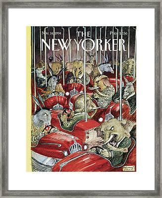 New Yorker November 14th, 1994 Framed Print by Edward Sorel