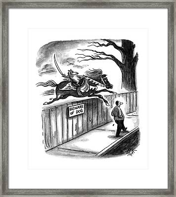 New Yorker November 14th, 1994 Framed Print by Frank Cotham