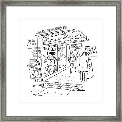 New Yorker November 15th, 1941 Framed Print by  Alain