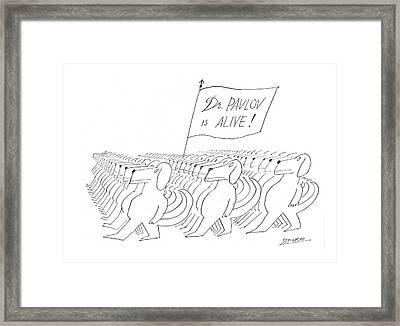 New Yorker November 16th, 1968 Framed Print by Saul Steinberg