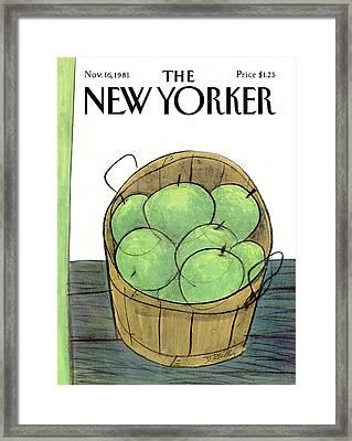 New Yorker November 16th, 1981 Framed Print