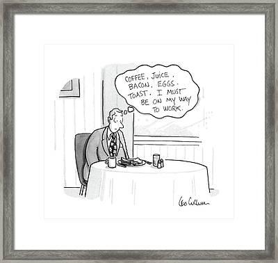 New Yorker November 16th, 1987 Framed Print