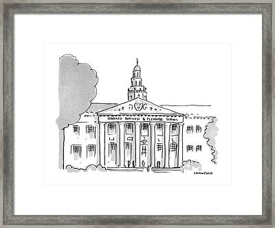 New Yorker November 16th, 1987 Framed Print by Michael Crawford