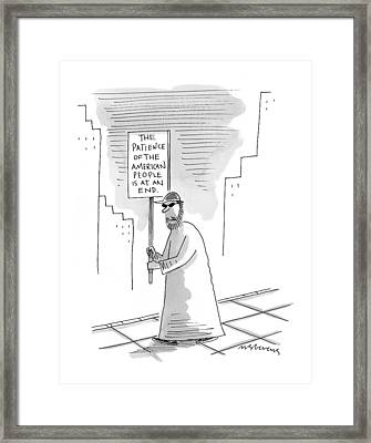 New Yorker November 16th, 1998 Framed Print by Mick Stevens