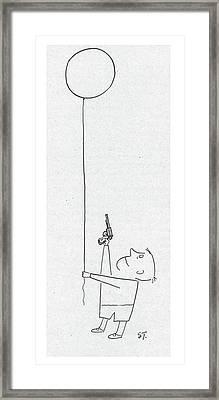 New Yorker November 17th, 1951 Framed Print by Saul Steinberg