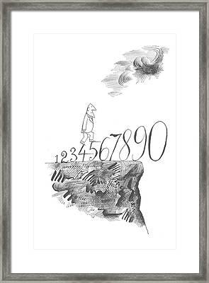 New Yorker November 17th, 1962 Framed Print by Saul Steinberg