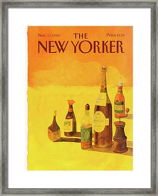 New Yorker November 17th, 1986 Framed Print by Abel Quezada