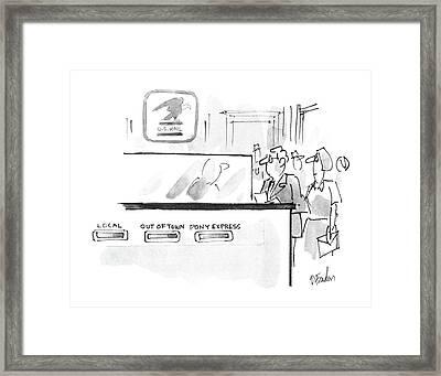 New Yorker November 17th, 1986 Framed Print by Dana Fradon