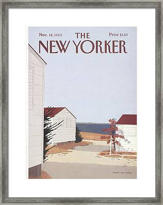 New Yorker November 18th, 1985 Framed Print