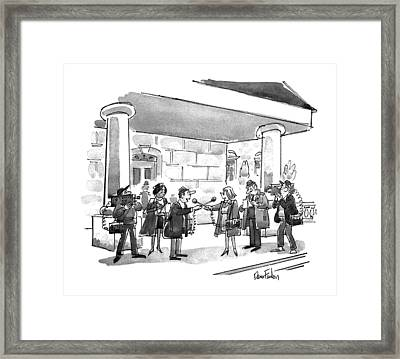 New Yorker November 18th, 1991 Framed Print by Dana Fradon