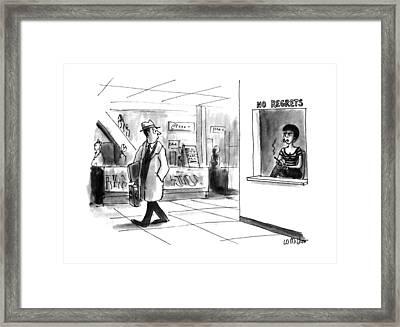 New Yorker November 18th, 1991 Framed Print by Warren Miller