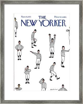 New Yorker November 19th, 1973 Framed Print by James Stevenson