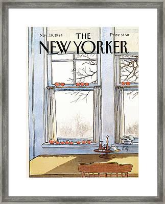 New Yorker November 19th, 1984 Framed Print by Arthur Getz