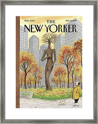 New Yorker November 19th, 2001 Framed Print