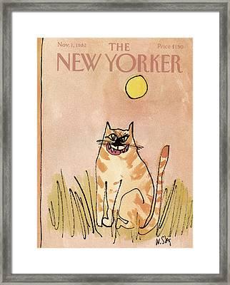 New Yorker November 1st, 1982 Framed Print