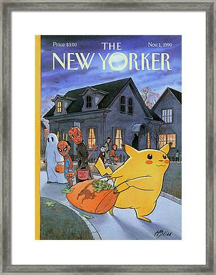 New Yorker November 1st, 1999 Framed Print by Harry Bliss