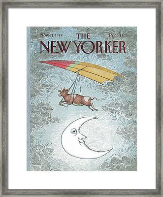 New Yorker November 21st, 1988 Framed Print