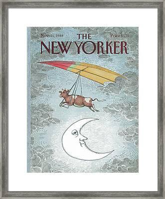New Yorker November 21st, 1988 Framed Print