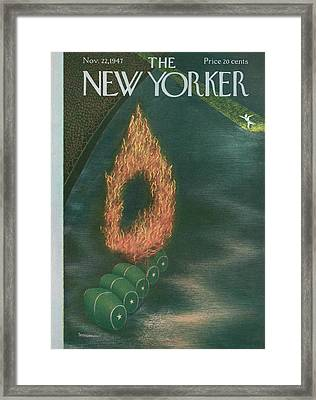 New Yorker November 22nd, 1947 Framed Print