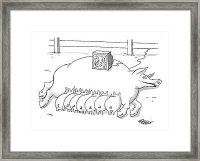 New Yorker November 22nd, 1999 Framed Print by Peter Steiner