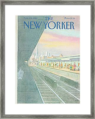 New Yorker November 24th, 1980 Framed Print by Charles E. Martin