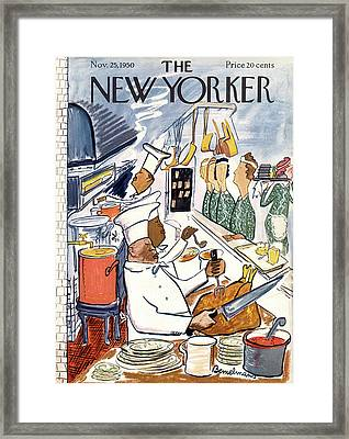 New Yorker November 25th, 1950 Framed Print by Ludwig Bemelmans