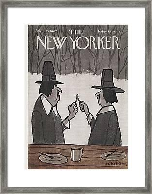 New Yorker November 25th, 1967 Framed Print by James Stevenson