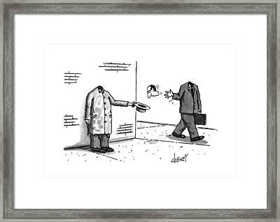 New Yorker November 25th, 1996 Framed Print by Tom Cheney