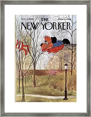 New Yorker November 26th, 1966 Framed Print by Charles E. Martin