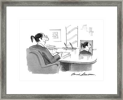 New Yorker November 26th, 1990 Framed Print by Bernard Schoenbaum